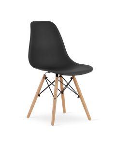 krzesło OSAKA czarne 4 sztuki