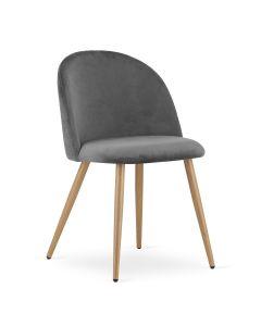 krzesło BELLO aksamit ciemnoszare 4 sztuki