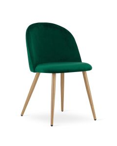 krzesło BELLO aksamit zieleń 4 sztuki