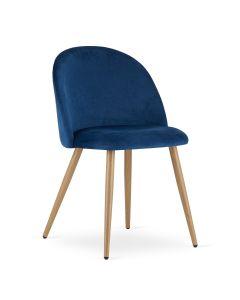 krzesło BELLO aksamit granat 4 sztuki