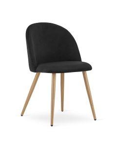 krzesło BELLO aksamit czarne 4 sztuki