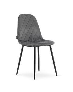 krzesło ASTI ciemny szary aksamit 4 sztuki