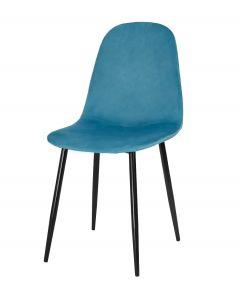 krzesło COMO niebieski aksamit 4 sztuki