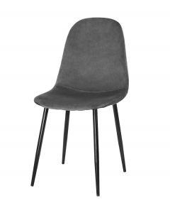 krzesło COMO ciemny szary aksamit 4 sztuki