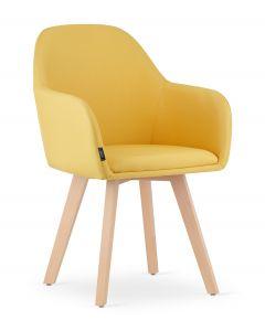 krzesło FERMO żółte 2 sztuki