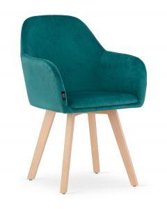 krzesło FERMO morska zieleń aksamit 2 sztuki