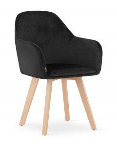 krzesło FERMO czarny aksamit 2 sztuki