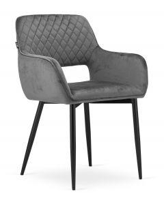 krzesło AMALFI ciemny szary aksamit 2 sztuki