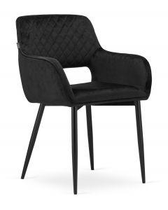 krzesło AMALFI czarny aksamit 2 sztuki