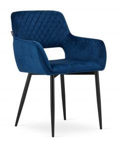 krzesło AMALFI niebieski aksamit 2 sztuki