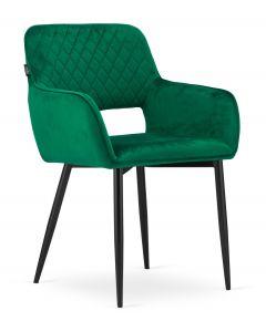krzesło AMALFI zielony aksamit 2 sztuki