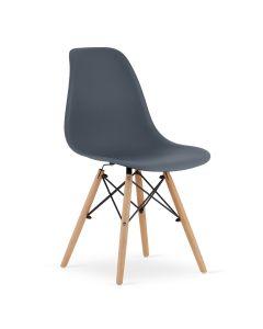 krzesło OSAKA ciemno szare 4 sztuki