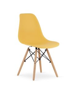 krzesło OSAKA musztardowe 4 sztuki