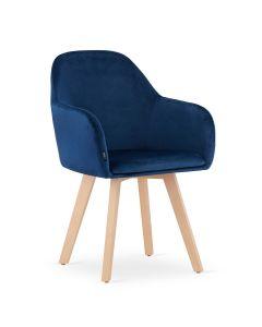 krzesło FERMO granat aksamit 2 sztuki