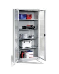 Szafa metalowa z przeźroczystymi drzwiami 195x93x50 cm