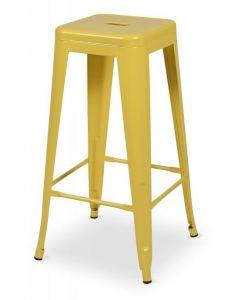 hoker Paris inspirowane Tolix Żółty Mat