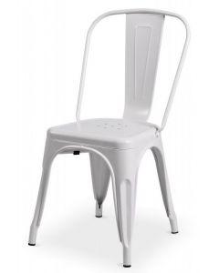 krzesło Paris inspirowane Tolix Biały