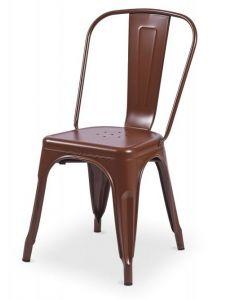 krzesło Paris inspirowane Tolix Brązowe