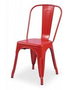krzesło Paris inspirowane Tolix Czerwone