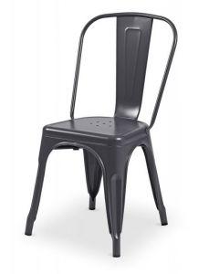 krzesło Paris inspirowane Tolix Grafitowe