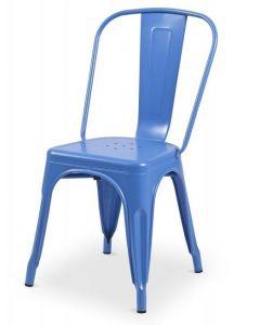 krzesło Paris inspirowane Tolix Niebieskie