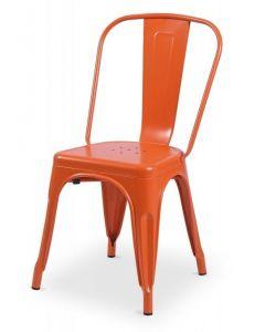 krzesło Paris inspirowane Tolix Pomarańczowe