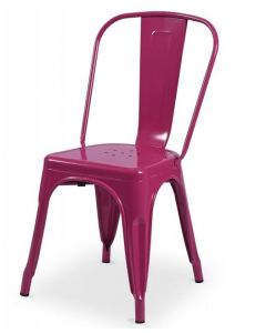 krzesło Paris inspirowane Tolix Różowe