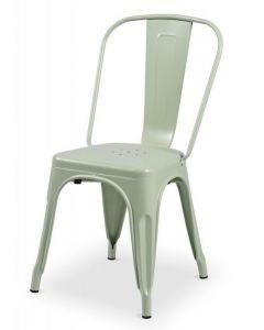 krzesło Paris inspirowane Tolix Seledynowy