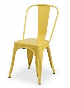 krzesło Paris inspirowane Tolix Żółty