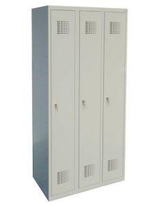 Szafa skrytkowo-ubraniowa szkolna SUM 330 W LX 3-skrytkowa (1800 x 900 x 500)