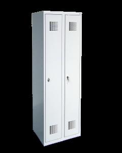 Szafa skrytkowo-ubraniowa szkolna SUM 320 W ST 2 skrytki (1800 x 600 x 500)