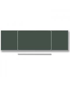 Tablica szkolna zielona do pisania kredą TRYPTYK 1000x850x1700x850 mm