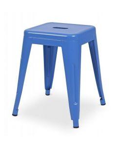 Taboret Paris inspirowane Tolix Niebieski Mat
