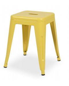 Taboret Paris inspirowane Tolix Żółty Mat